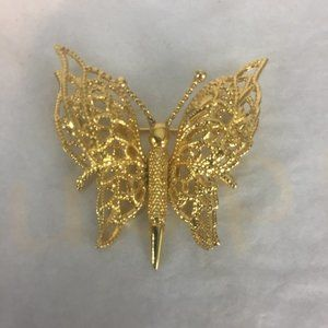 Vintage Monet Beautiful Butterfly Brooch Pin